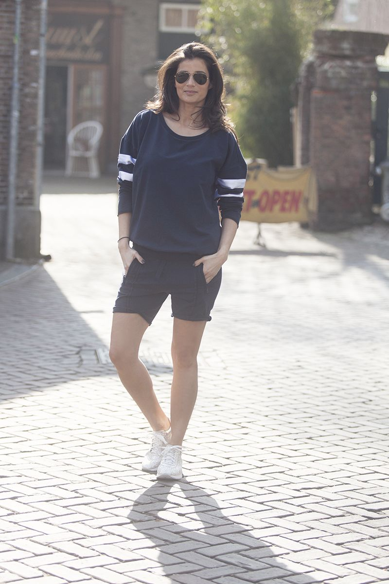 streestyle blue jogging trackpants women 2015 navy styling by www.blogforshops.nl