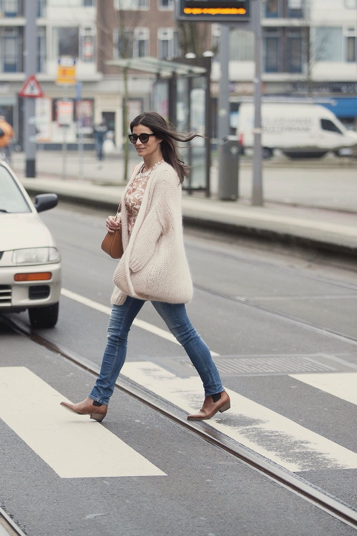 Handknitted cardigan streetstyle spring 2016 BlogForShops for Gerz Rotterdam