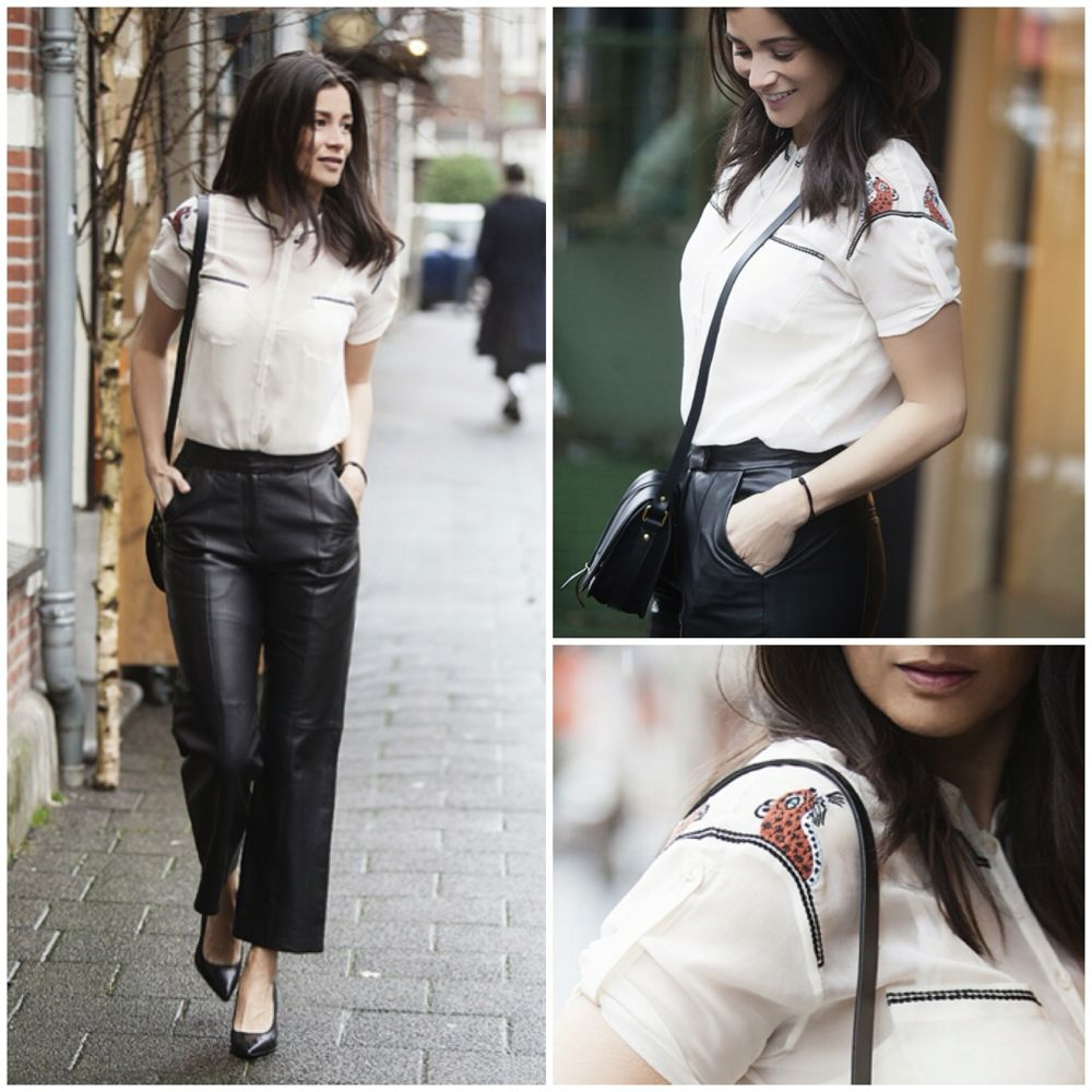 BlogForShops streetstyle spring 2015 wearing Paul Joe silk top DNA Jerome Dreyfuss