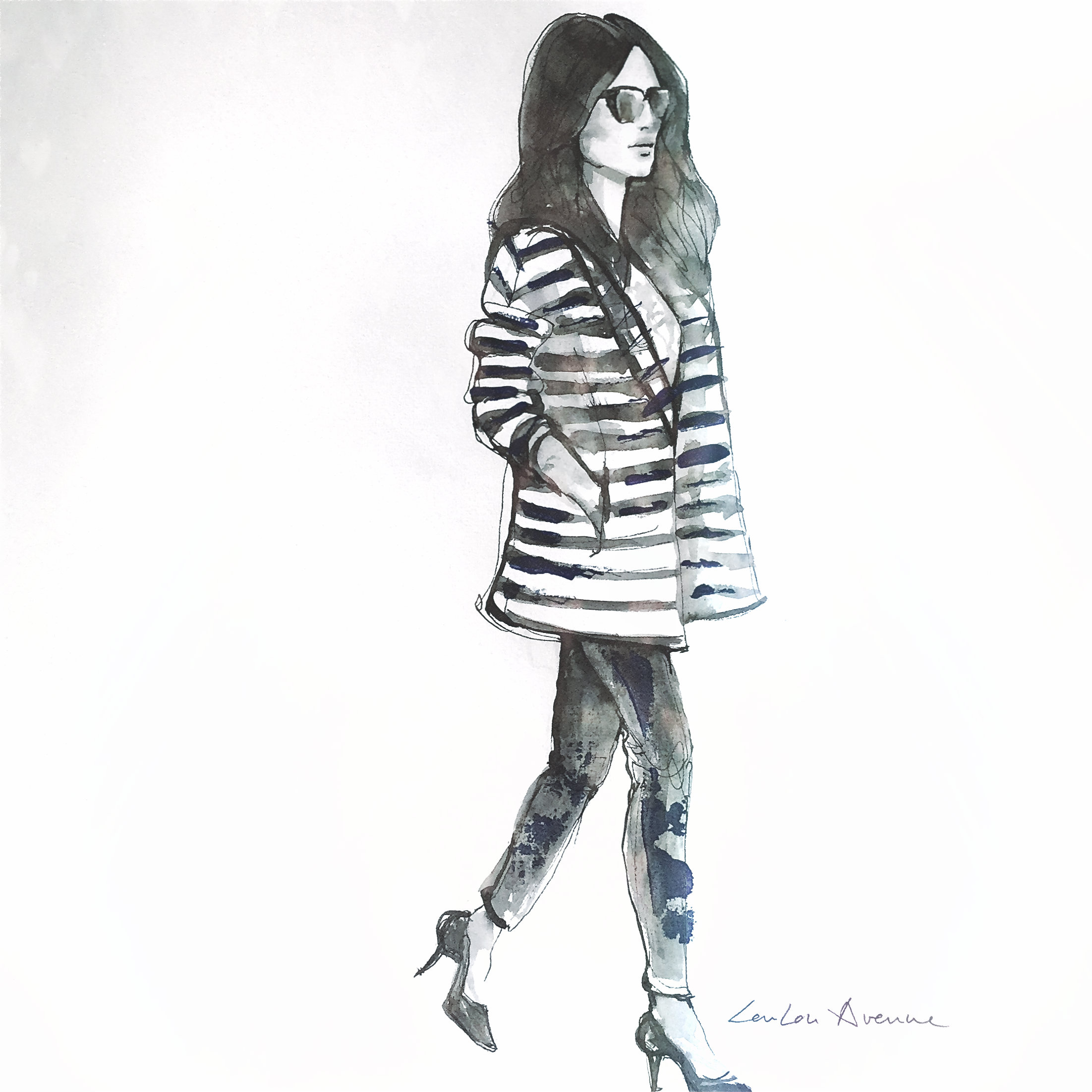 streetstyle fashion illustration LouLou Avenue for BlogForShops