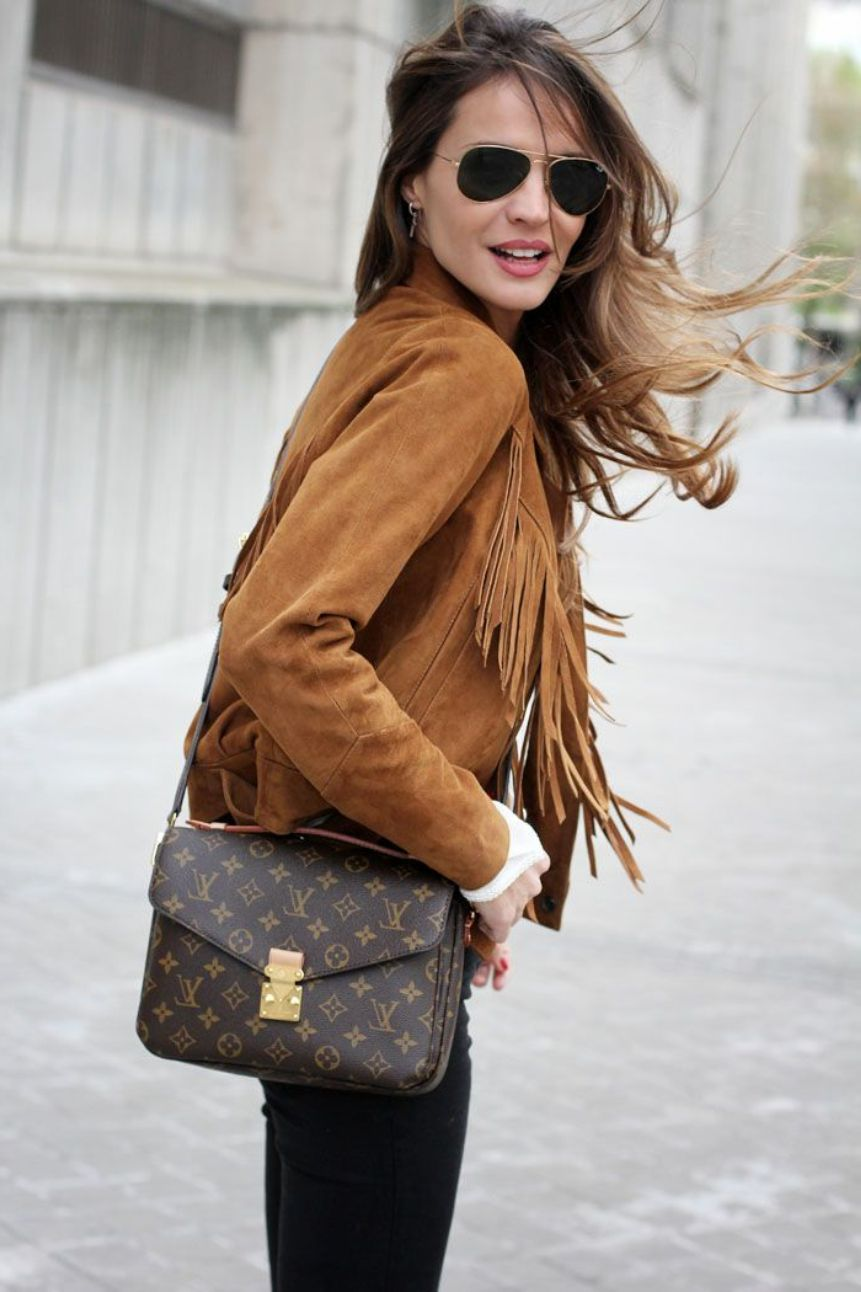 Brownsuede fringe jacket