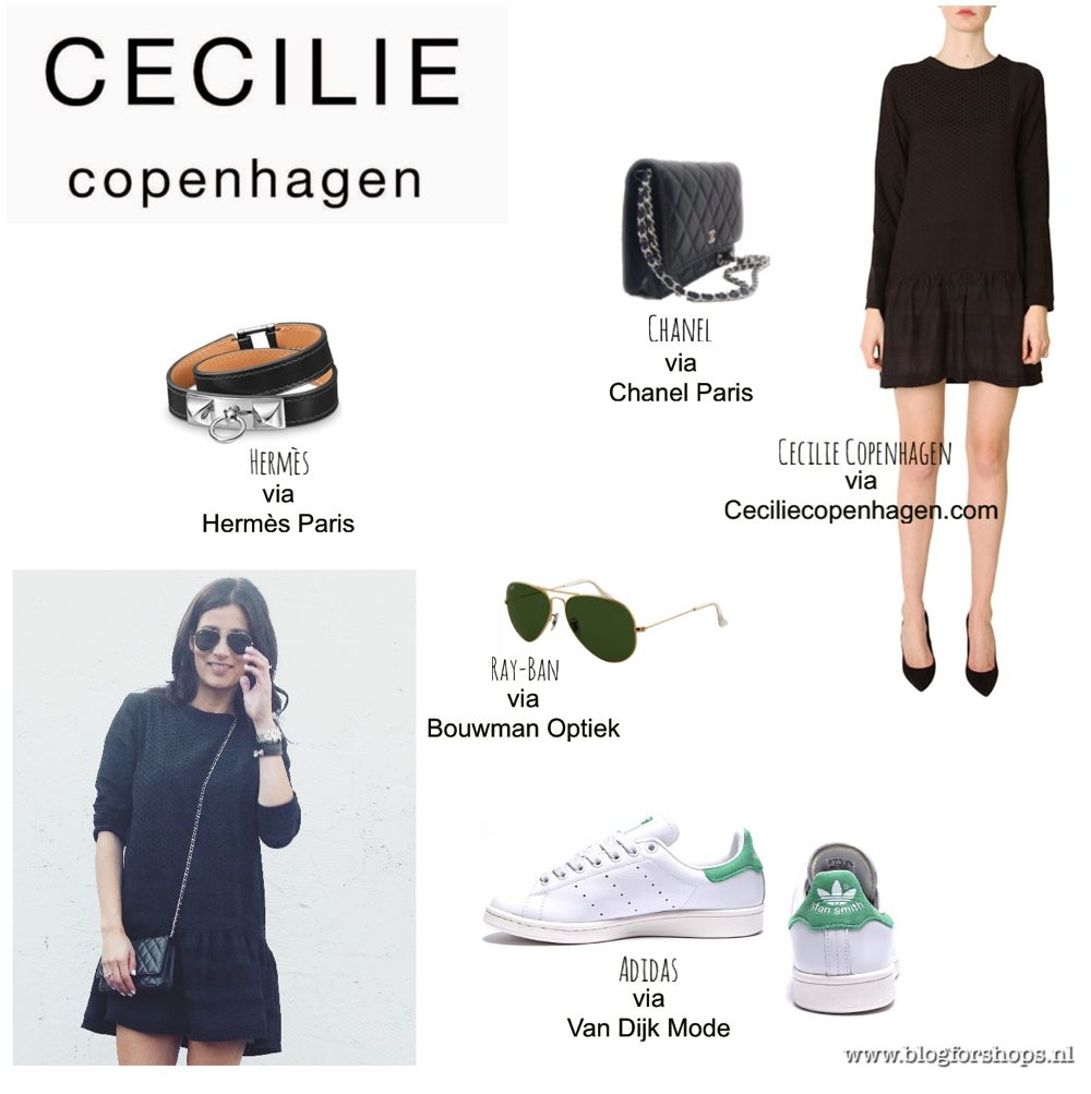 Cecilie Copenhagen dress style 2 color black/black outfitpost by Sabrina, BlogForShops www.blogforshops.nl