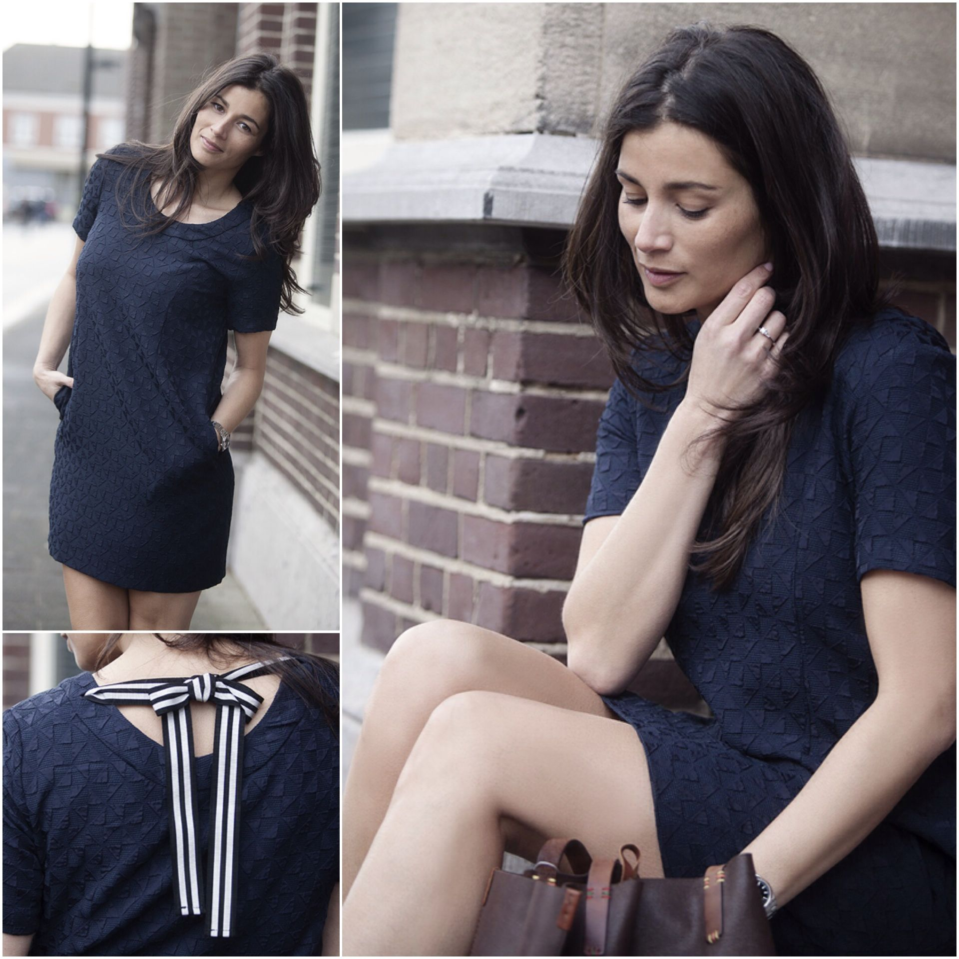 Streetstyle look Paul Smith navy dress spring summer 2015 BlogForShops for Donna Donna in Zundert NL