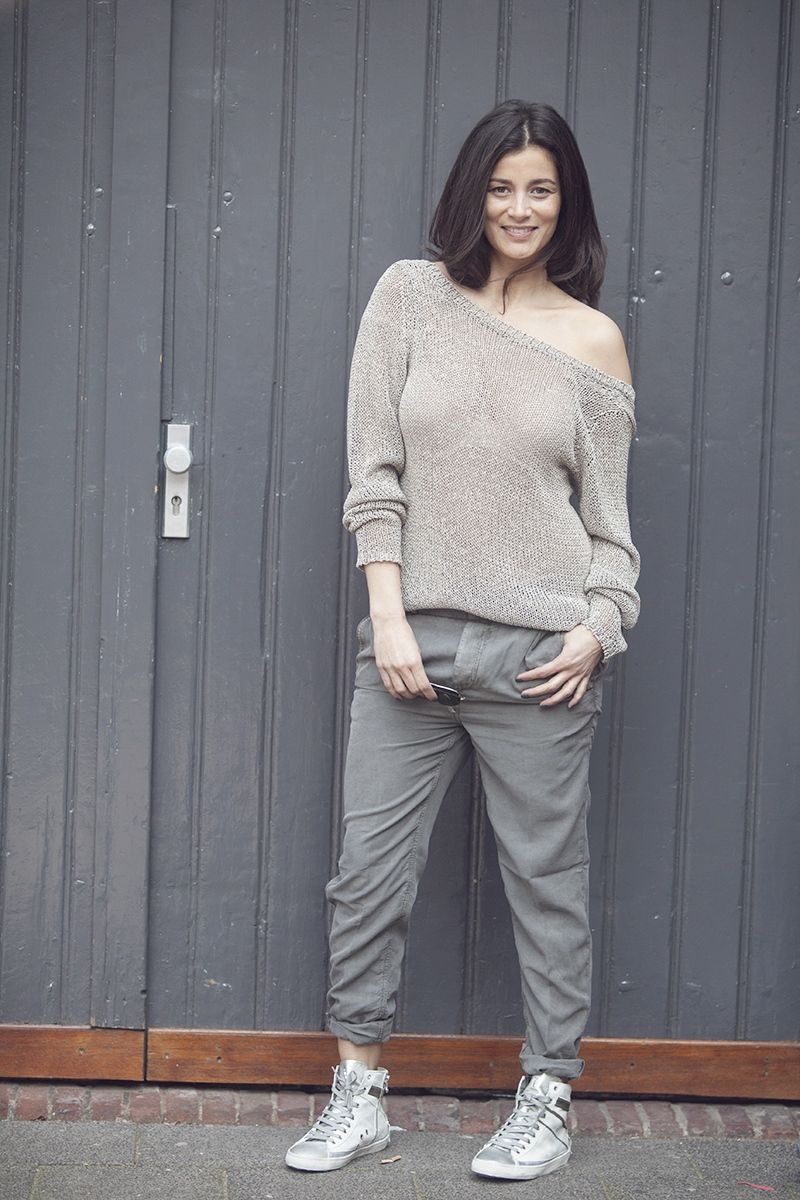 street wear BlogForShops 2015 summer knitwear slouchy pants and sneakers