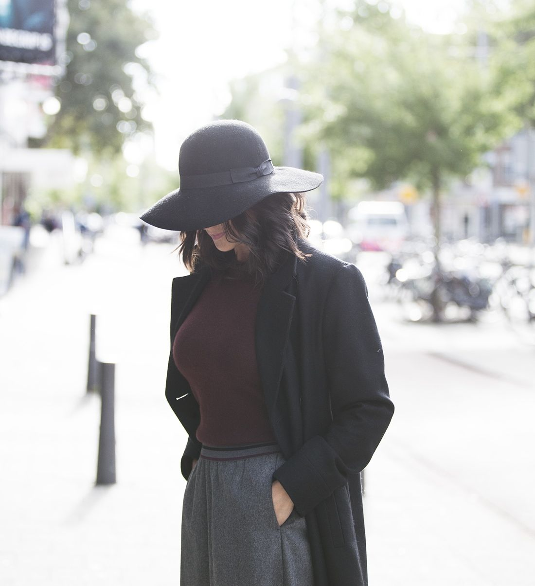Fedora hat streetstyle fall 2016 Blogforshops look for Gerz Rotterdam